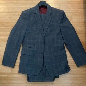 Other - Custom Grey Windowpane Suit